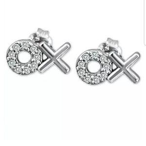 NWT  Giani Bernini Sterling Silver xoxo earrings